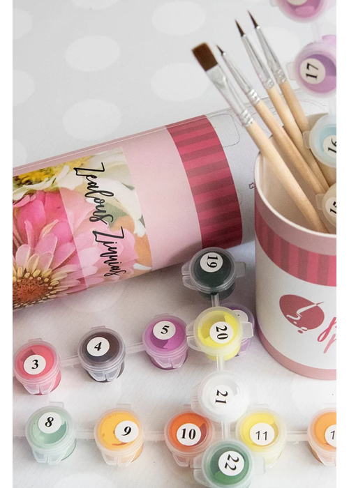 Pink Picasso Zealous Zinnias Paint By Numbers