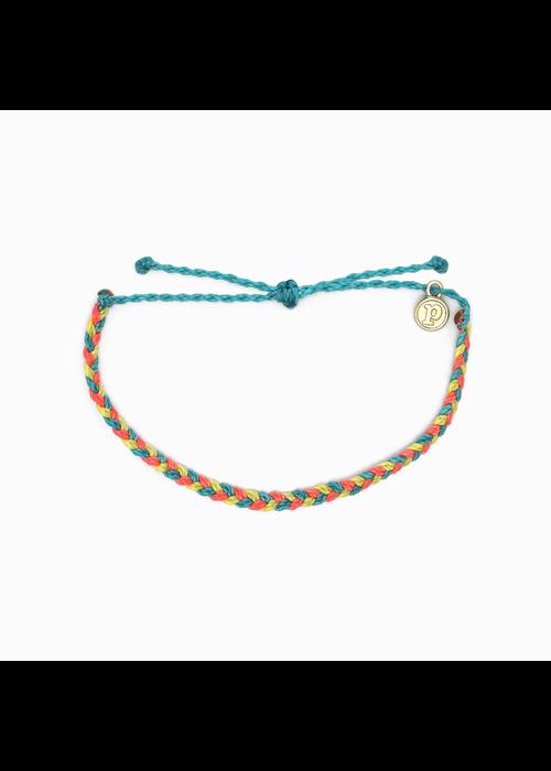 Pura Vida Mini Braided Multi Bracelet Rainbow Sherbert