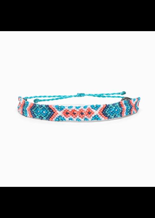 Pura Vida Friendship Macrame Bracelet Pacific Blue