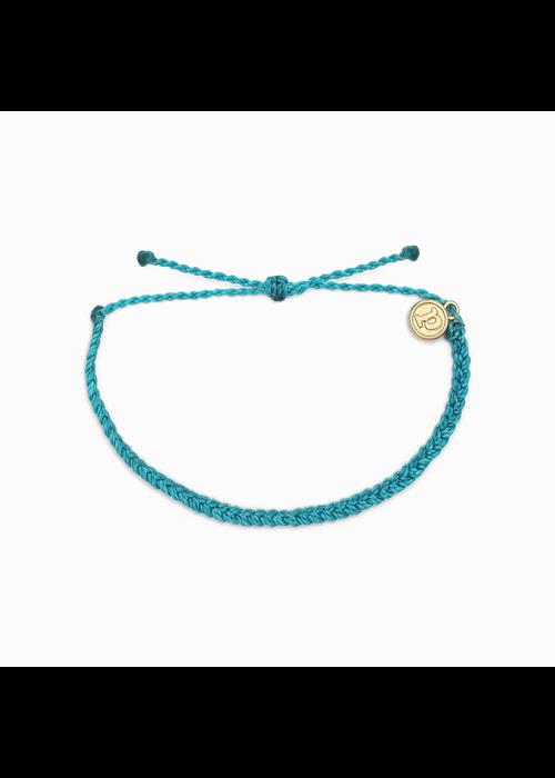 Pura Vida Mini Braided Solid Bracelet Pacific Blue