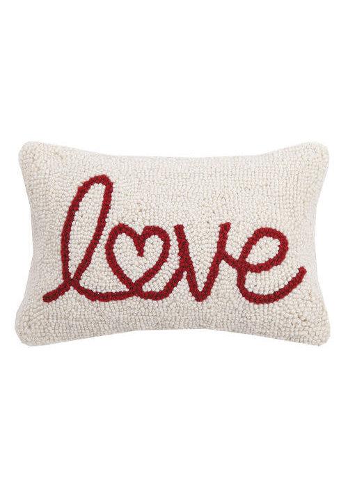Love Heart Script Pillow