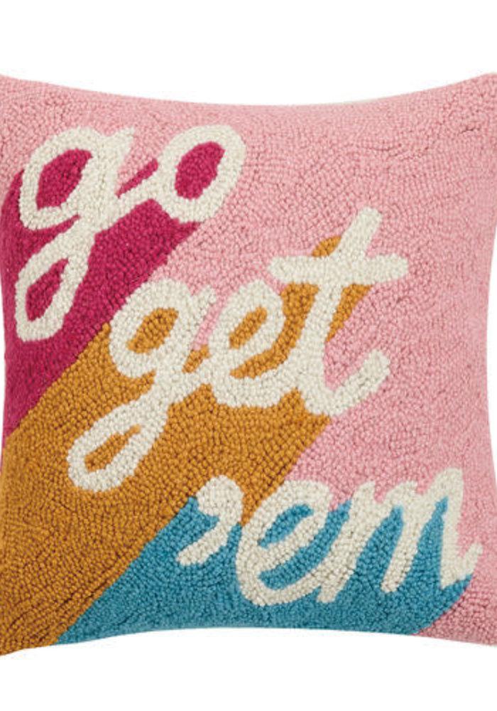 Go Get 'Em Color Block Pillow