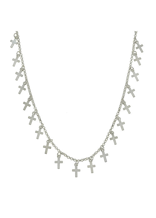 Cross Drip Necklace