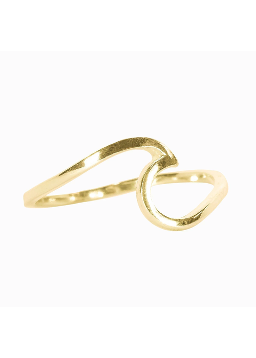 Pura Vida Gold Wave Ring
