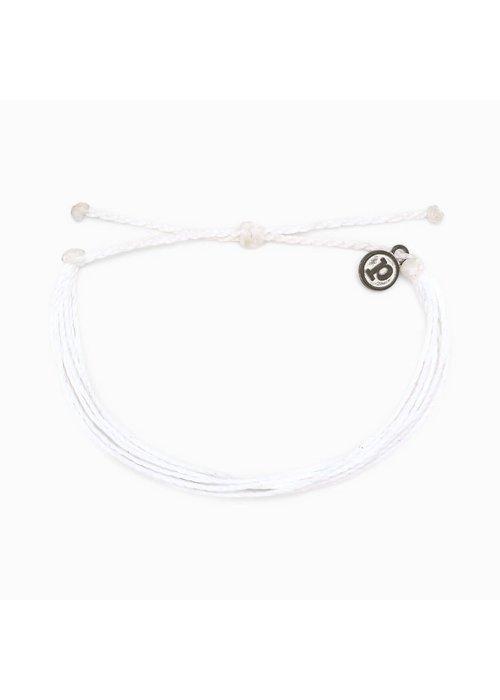 Pura Vida Original Bracelet Solid White