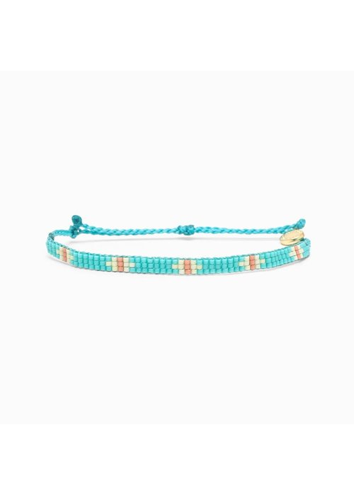 Pura Vida Flat Bead Bracelet Turquoise