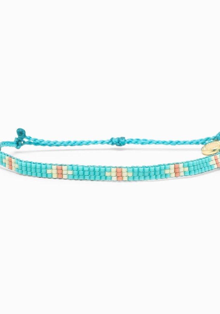 Flat Bead Bracelet Turquoise