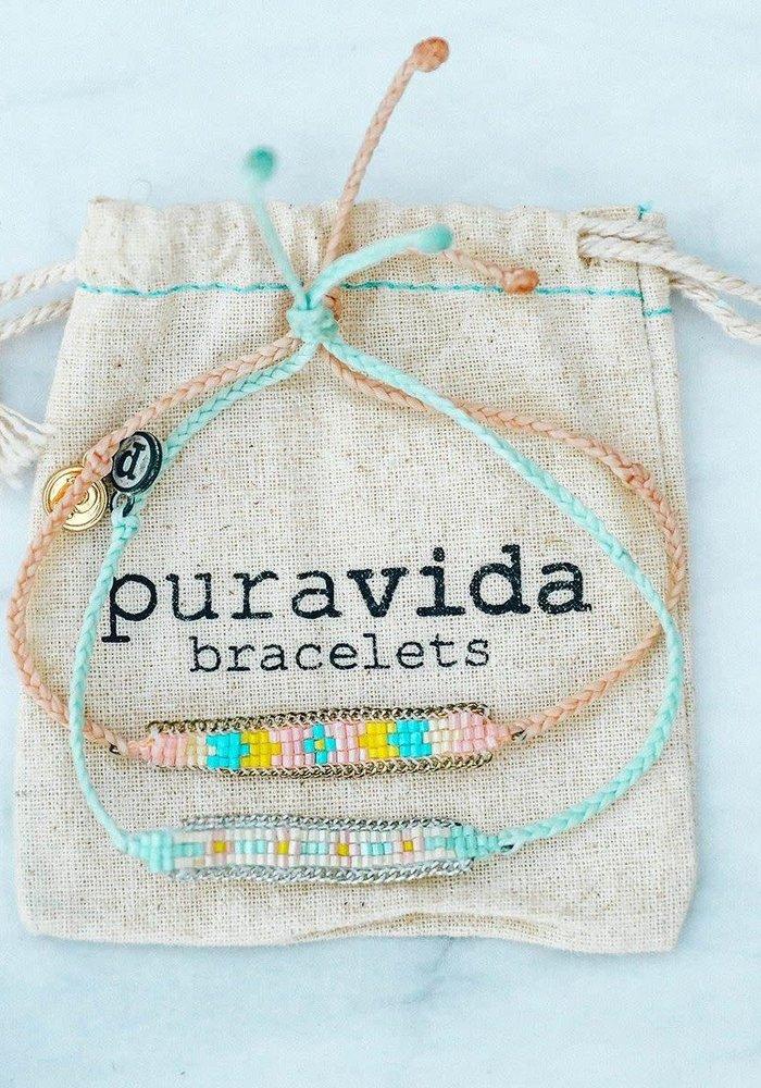 Seed Bead ID Bracelet Blush
