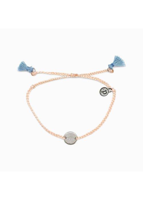 Pura Vida Silver Compass Braided Bracelet