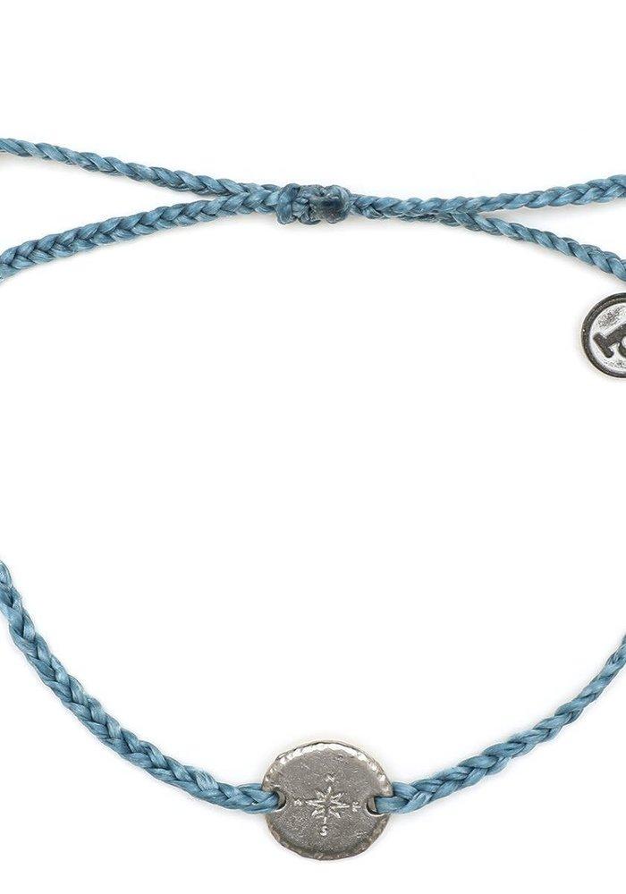 Silver Compass Braided Bracelet