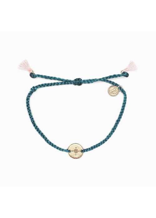 Pura Vida Rose Gold Compass Braided Bracelet