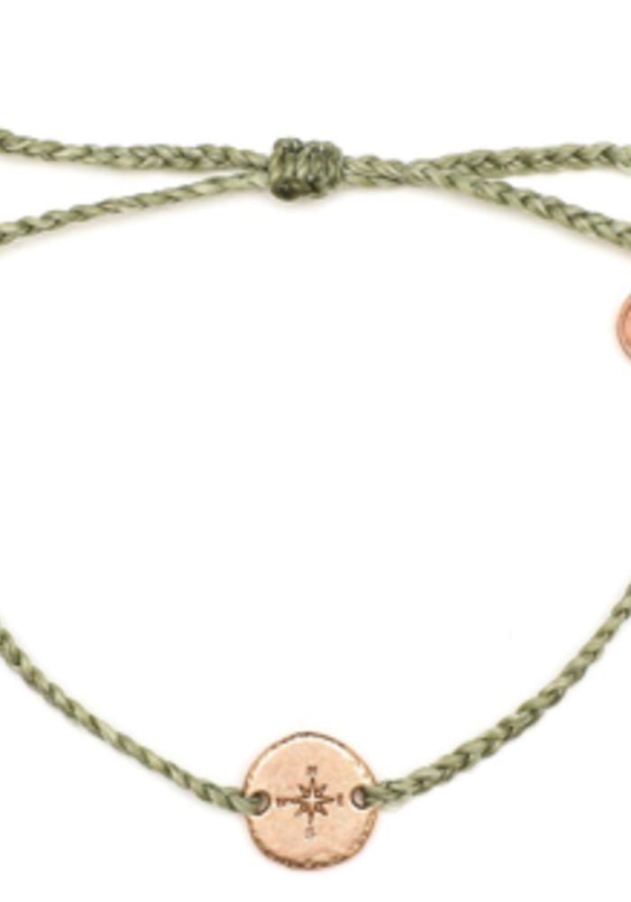 Rose Gold Compass Braided Bracelet