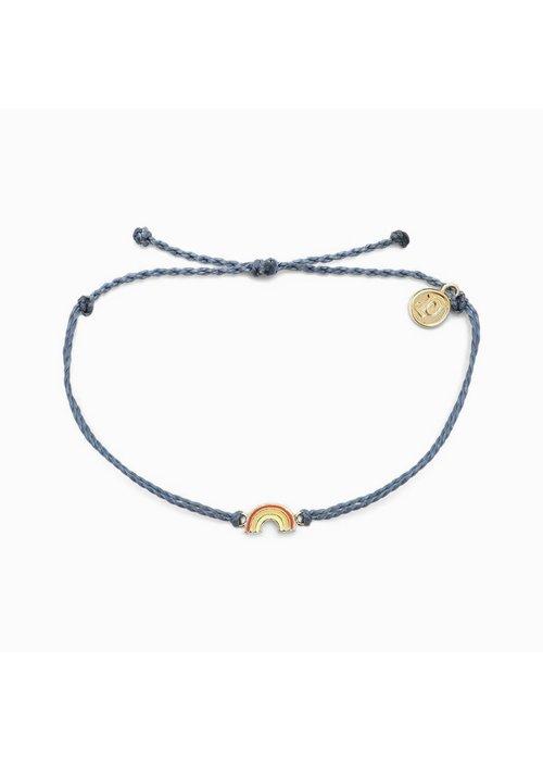 Pura Vida Rainbow Charm Braided Bracelet