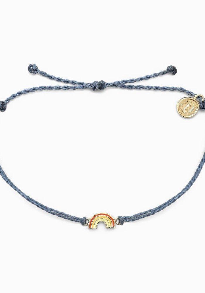 Rainbow Charm Braided Bracelet