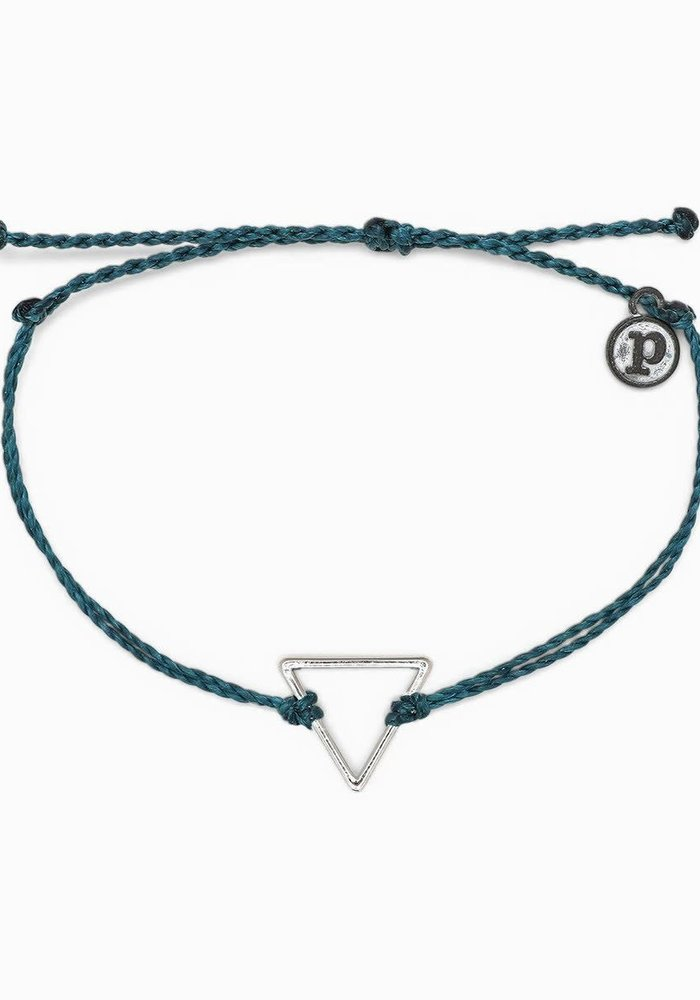 Triangle Charm Braided Bracelet
