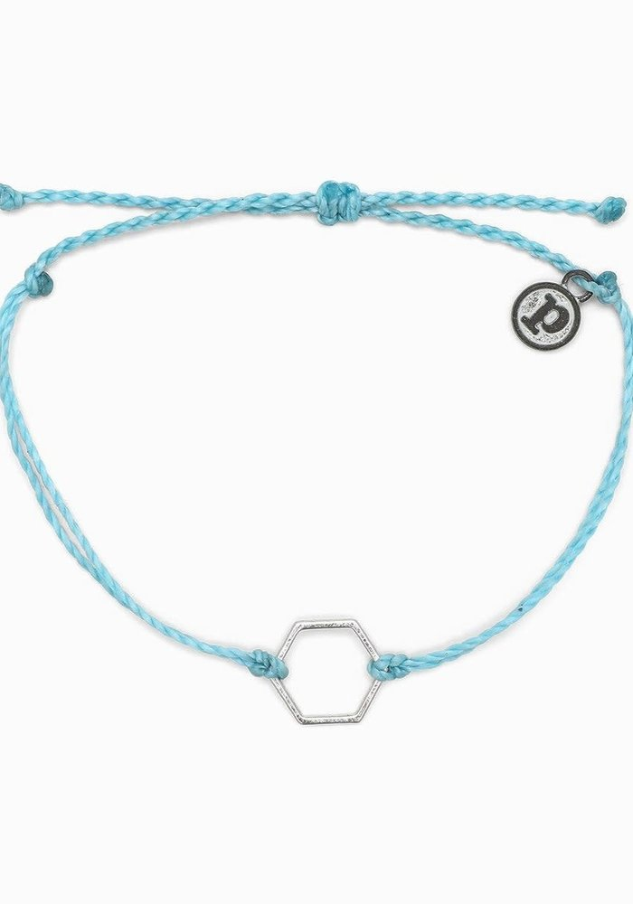 Hexagon Bracelet Light Blue