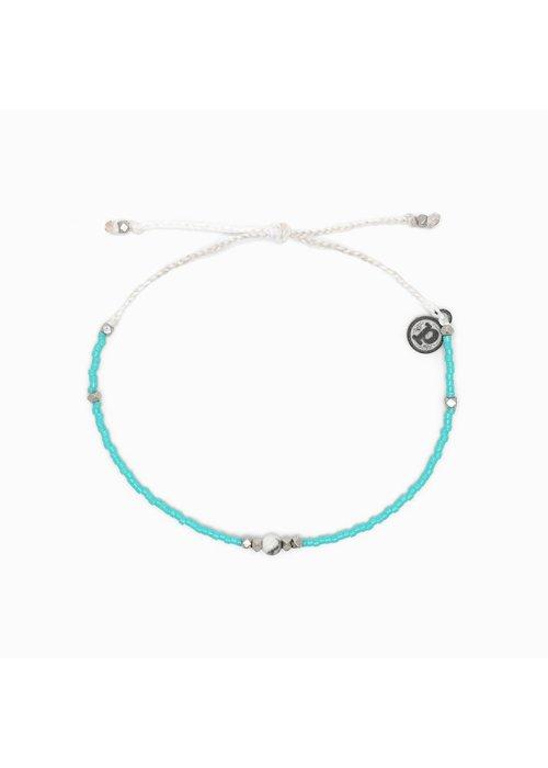 Pura Vida Gem & Tube Seed Bead Bracelet Turquoise/Howlite