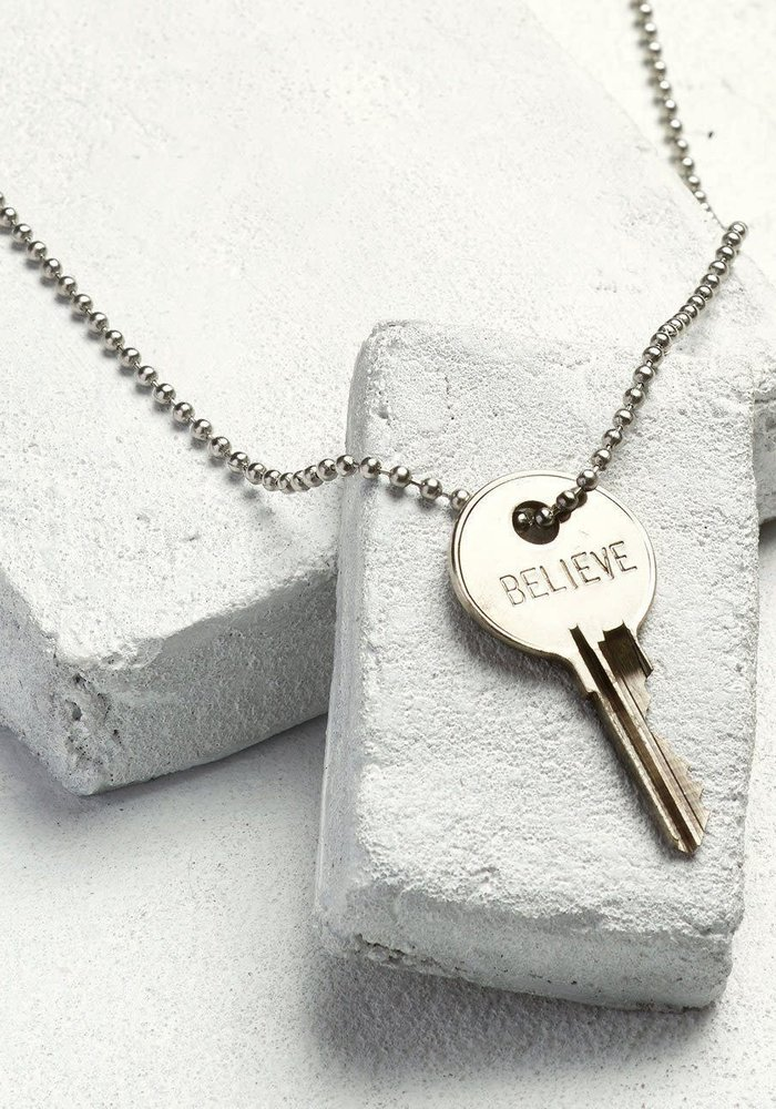 Giving Keys Inspirational Word Classic Ball Chain Necklace