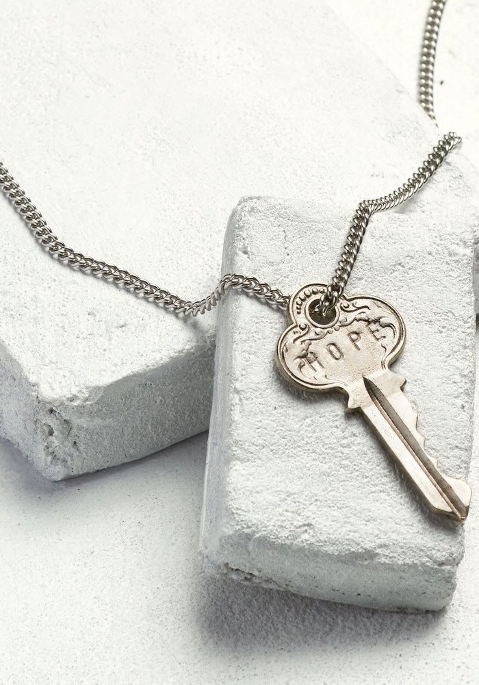 Giving Keys Inspirational Word Classic Key Necklace