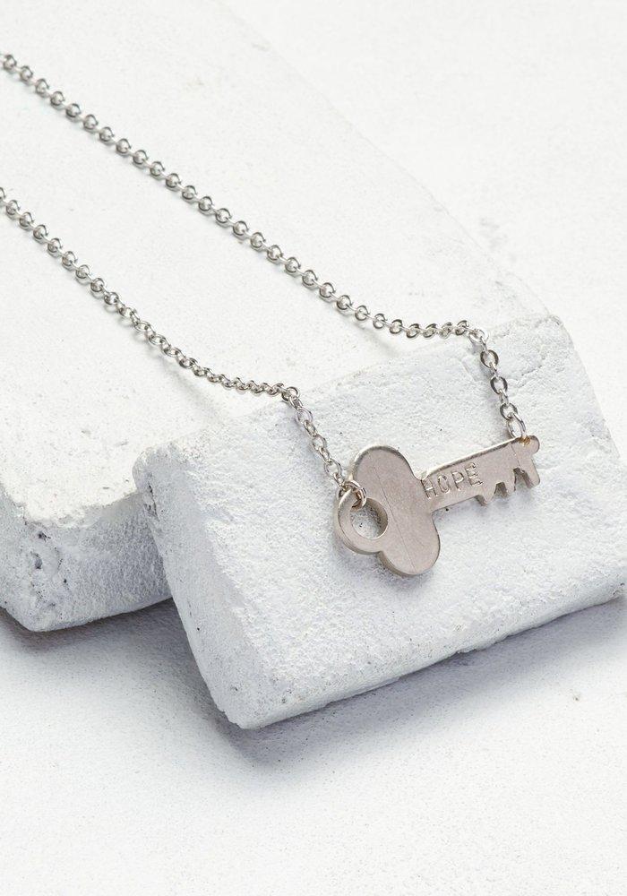 Giving Keys Inspirational Word Never Ending Choker