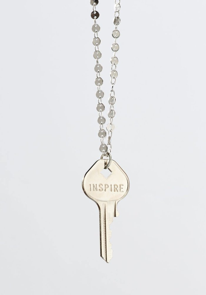 Giving Keys Inspirational Word Barcelona Classic Key Necklace