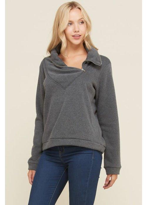 Brushed Fleece Cape Cod Sweater