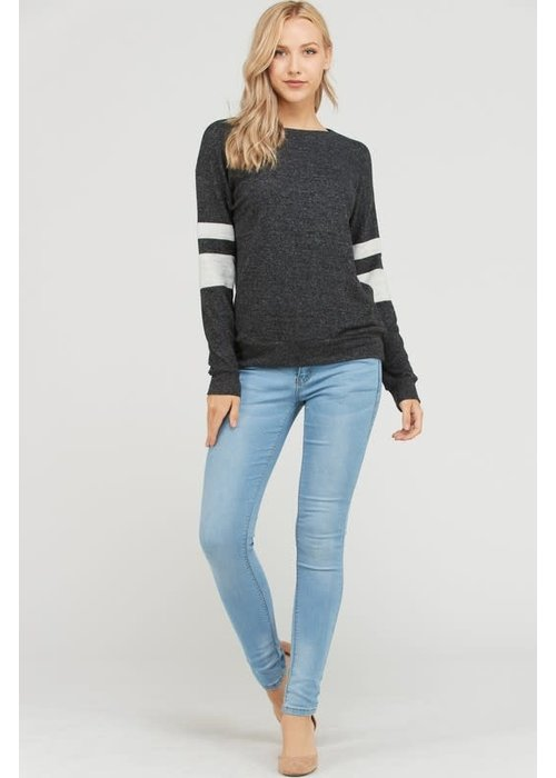 Varsity Stripe Tunic Sweater