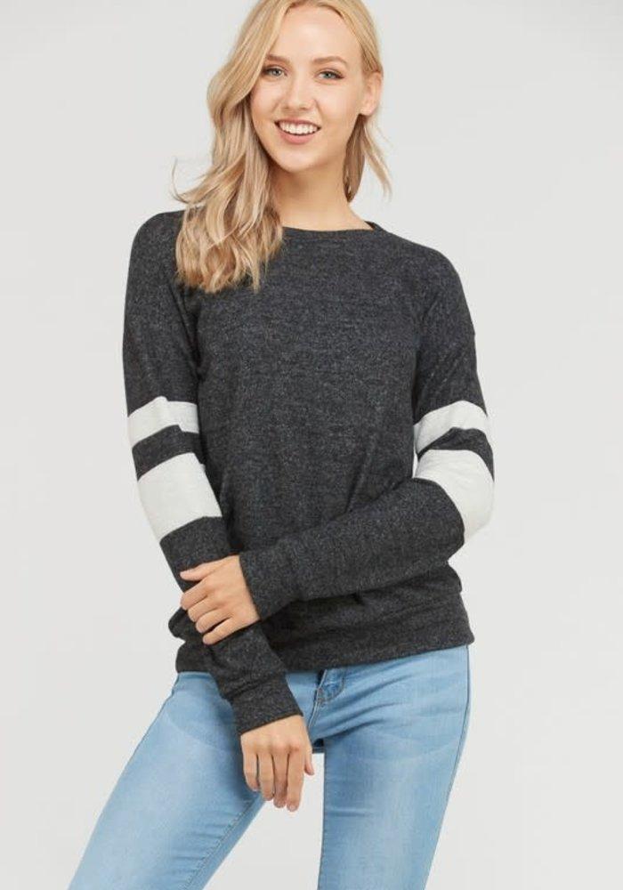 Varsity Stripe Tunic Sweater