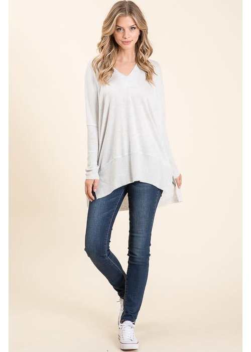 V-Neck Jersey Sweater