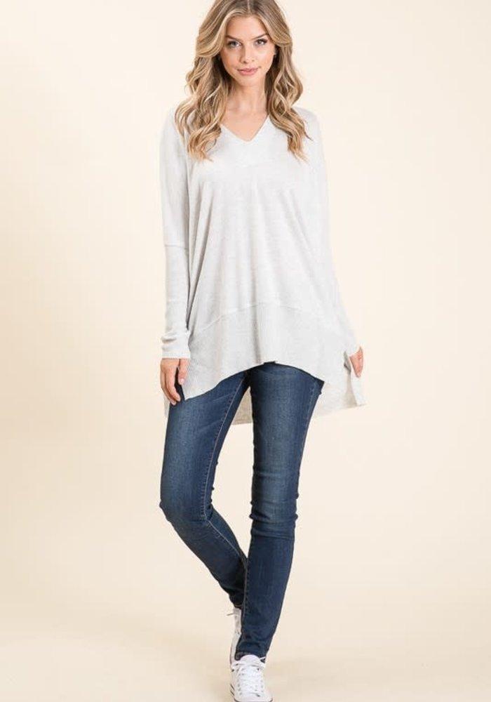 V-Neck Jersey Sweater