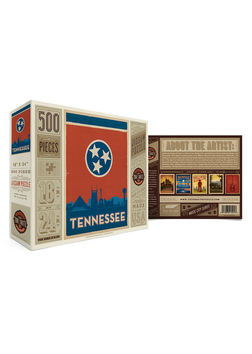 True South Puzzle Company Tennessee State Flag Puzzle