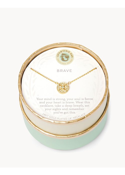 "Spartina 449 Sea La Vie ""Brave"" Gift Message Necklace"