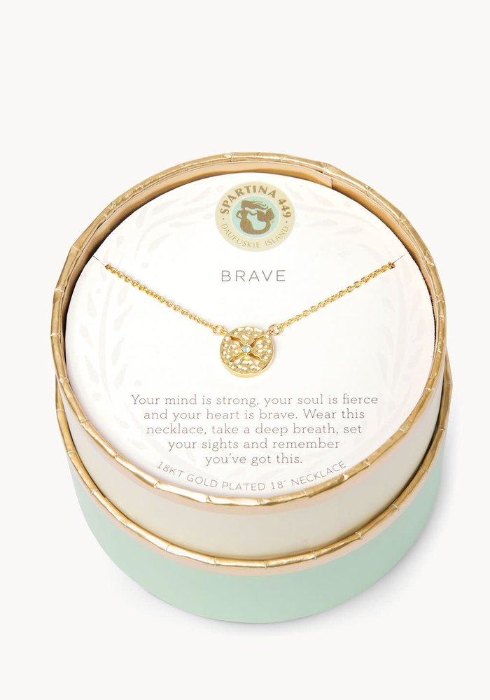 "Sea La Vie ""Brave"" Gift Message Necklace"