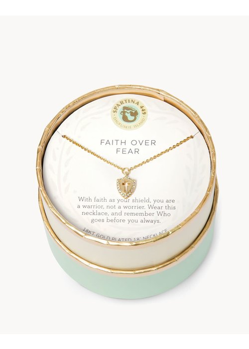 "Spartina 449 Sea La Vie ""Faith Over Fear"" Gift Message Necklace"