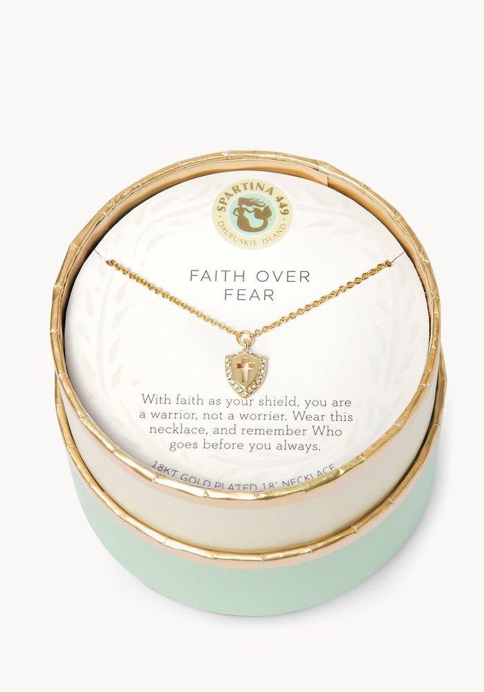 "Sea La Vie ""Faith Over Fear"" Gift Message Necklace"