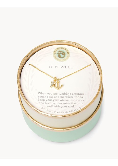 "Spartina 449 Sea La Vie ""It is Well"" Gift Message Necklace"
