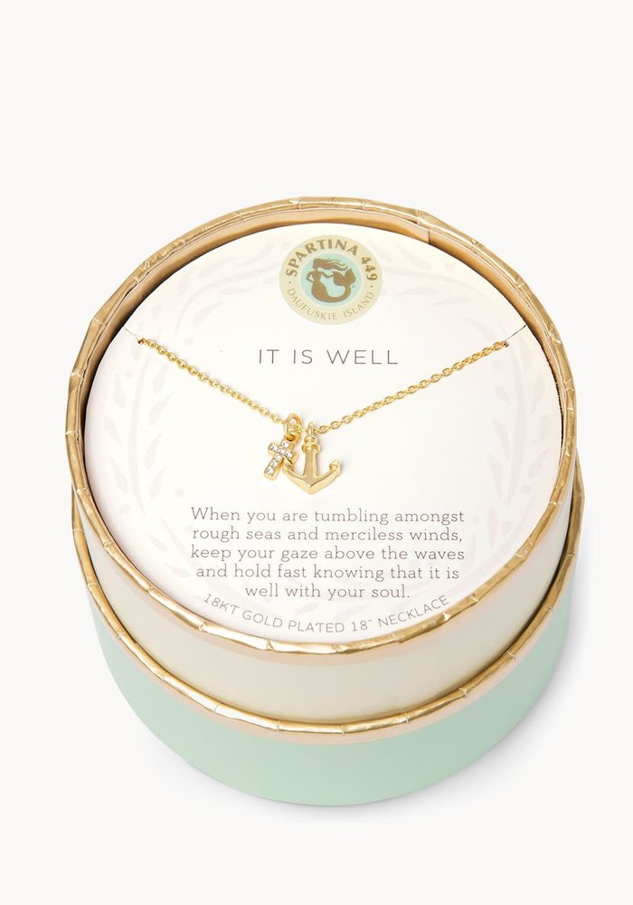 """Sea La Vie """"It is Well"""" Gift Message Necklace"""
