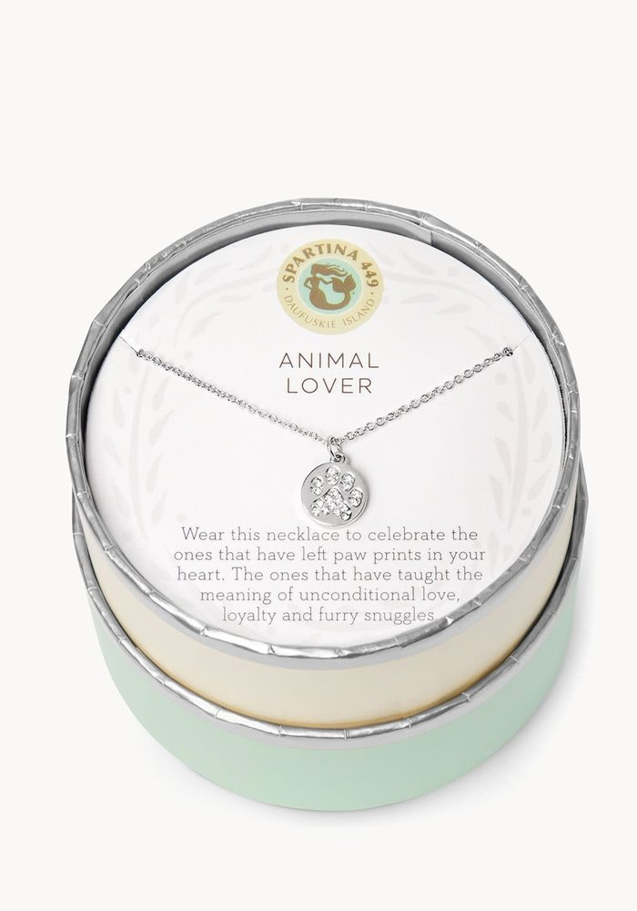 "Sea La Vie ""Animal Lover"" Gift Message Necklace"