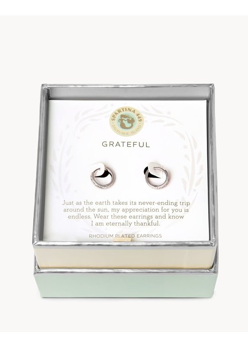 "Spartina 449 Sea La Vie ""Grateful"" Gift Message Earring"