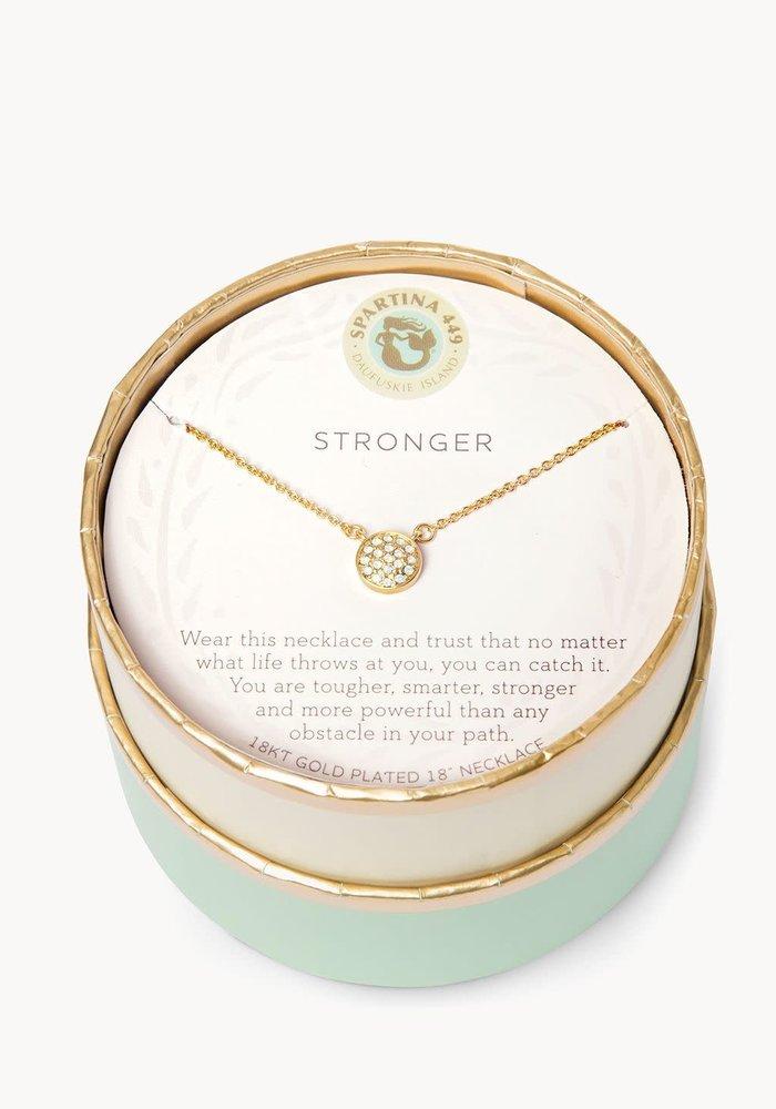 "Sea La Vie ""Stronger"" Gift Message Necklace"