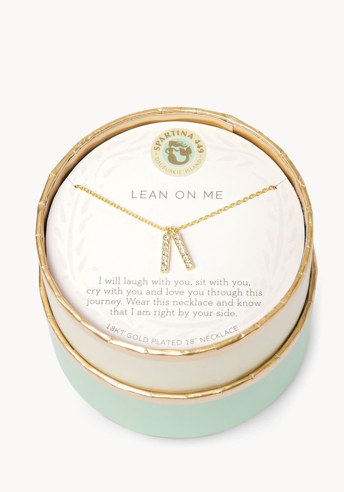 "Sea La Vie ""Lean on Me"" Gift Message Necklace"