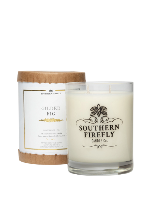 Southern Firefly Gilded Fig Glass Candle