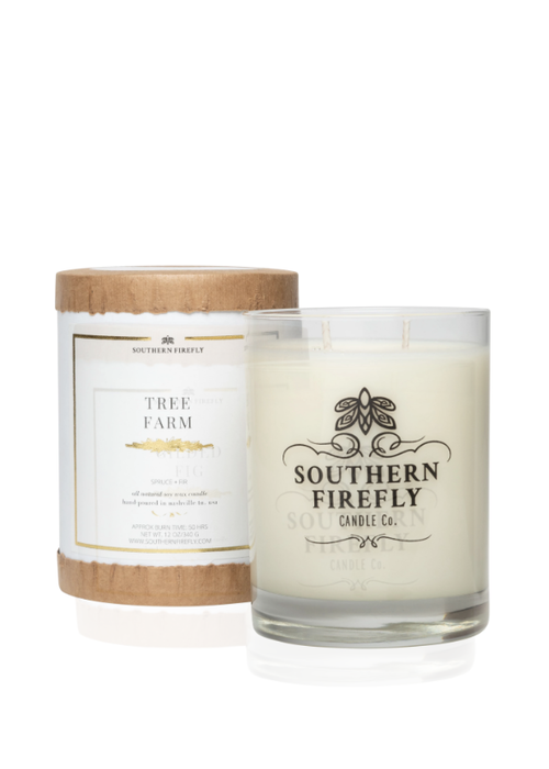 Southern Firefly Tree Farm Glass Candle