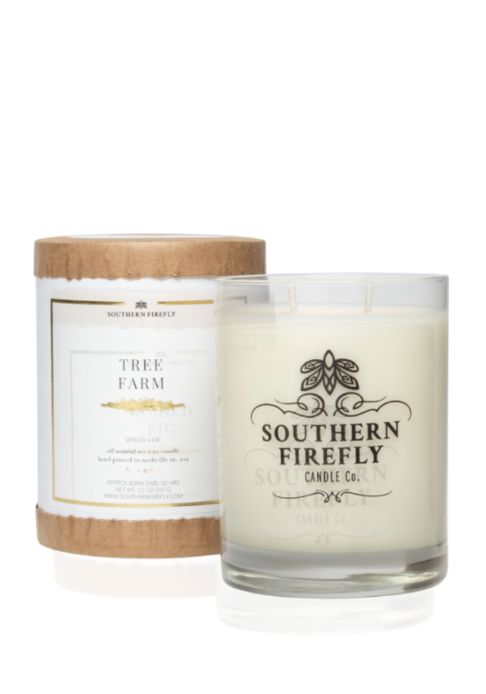 Tree Farm Glass Candle
