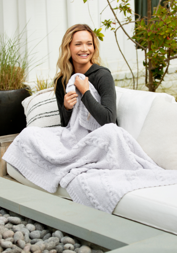 Cozychic Heathered Cable Blanket