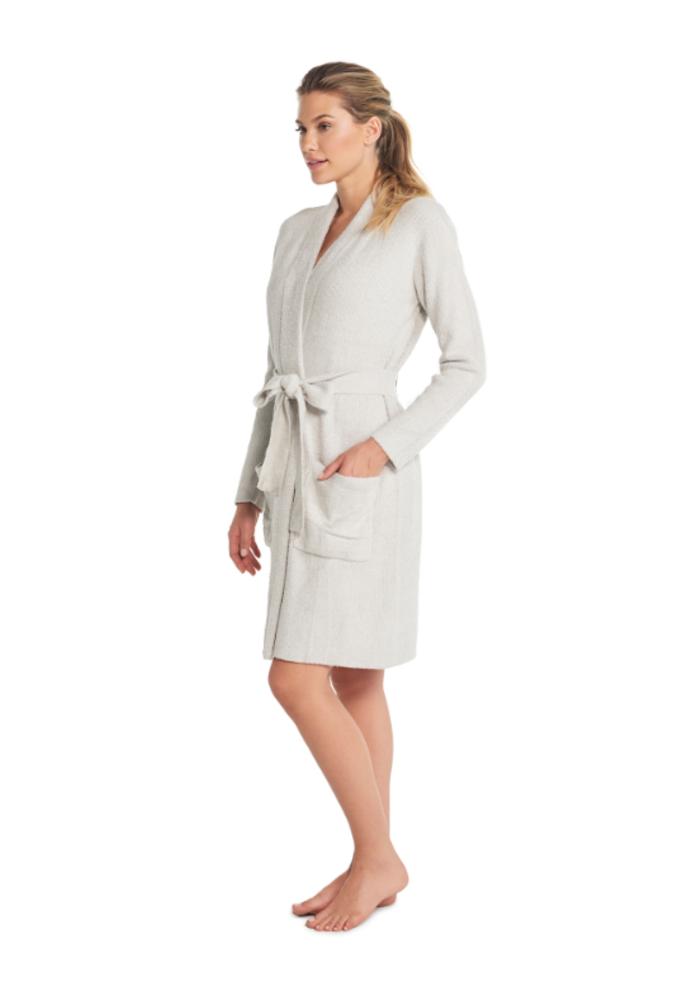 Heathered Ribbed Robe