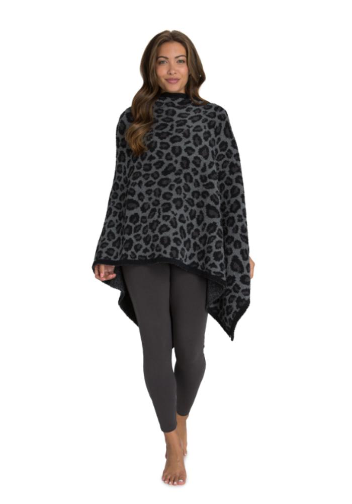 Cozychic Leopard Poncho
