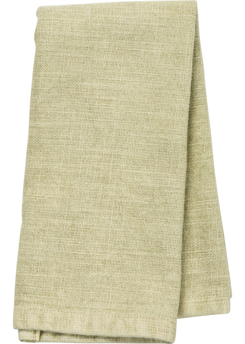 Green Knit Tea Towel