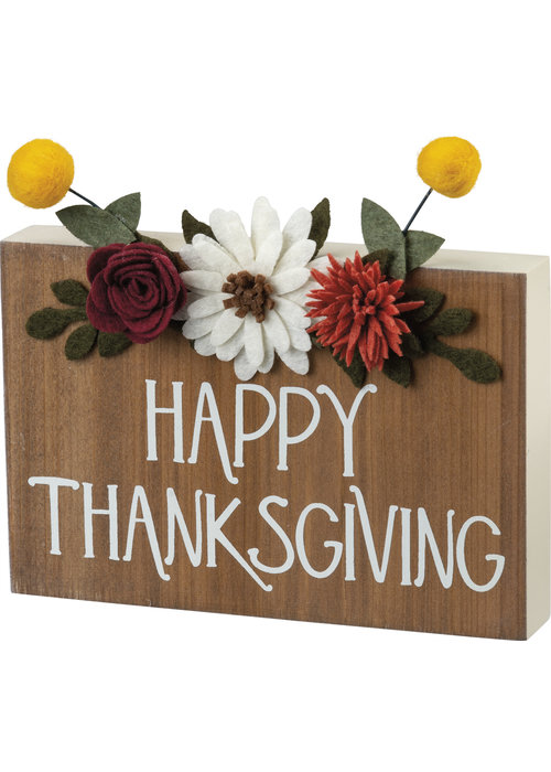 Thanksgiving Block Sign
