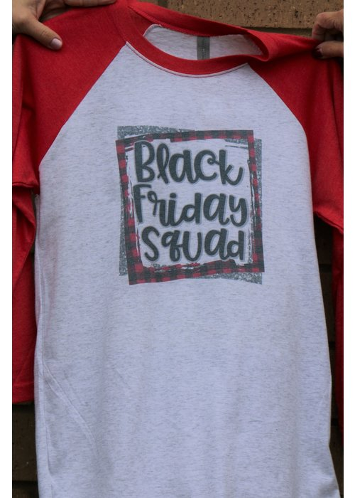Black Friday Squad Holiday Raglan Tee